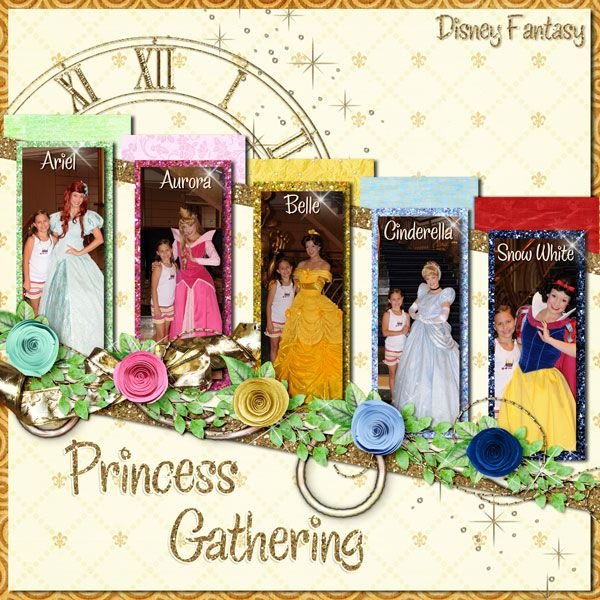 Love this page. Should do this with all of our Disney princess pics from the cruise.