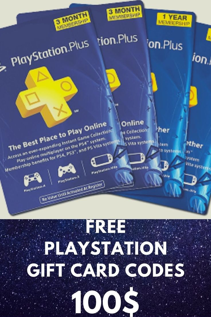 Free playstation gift card codes psn ps4 in 2020