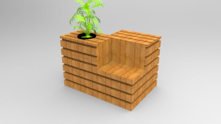 Mobiliario de Esparcimiento, Estiba reciclada. #KeyShot