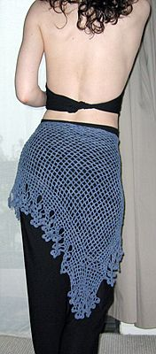 Flamenco Wrap - Free Instructions - this would make a nice belly dance wrap if you sew some coins on the bottom.