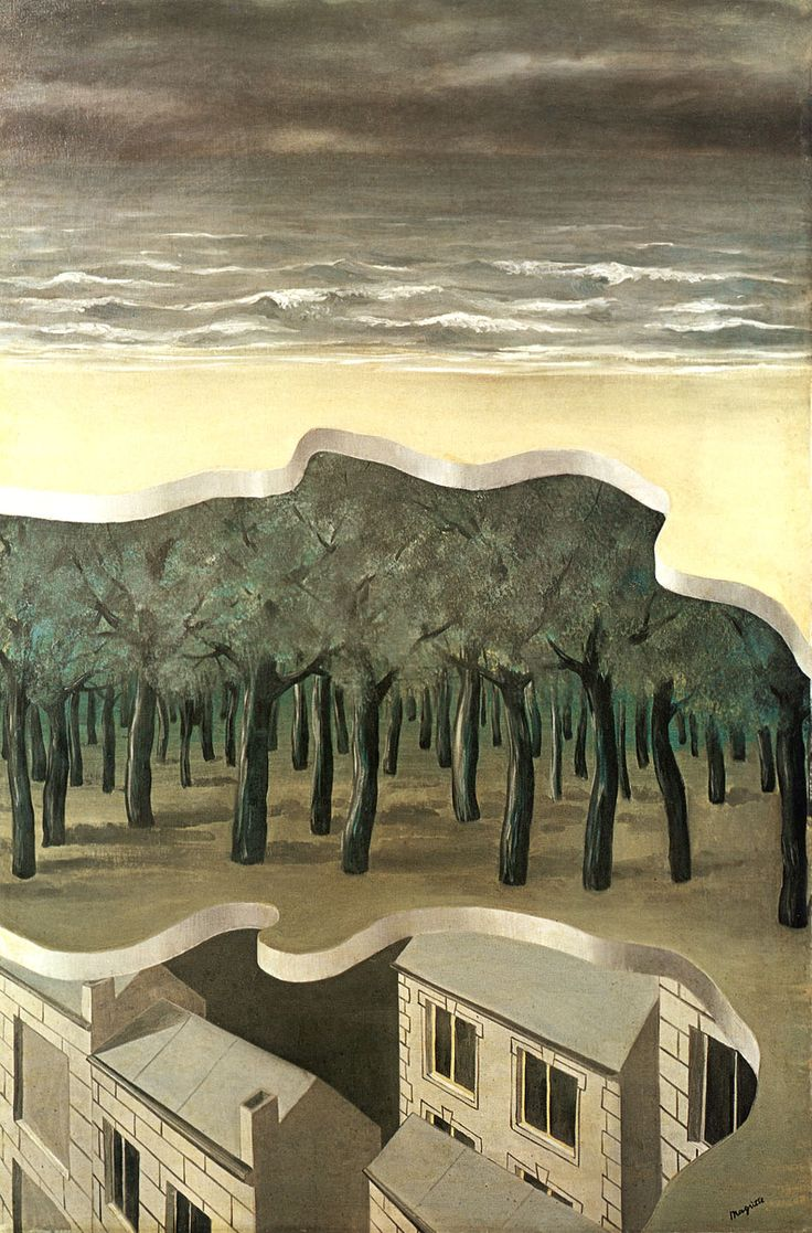 Rene Magritte [Surreal interior/exterior] | Painting ...
