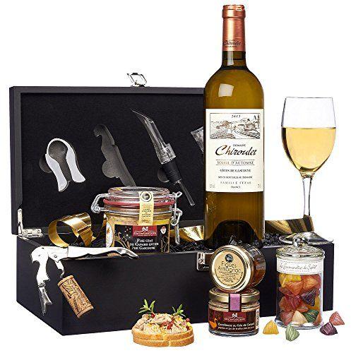 Ducs de Gascogne – Coffret gourmand «Sommelier» – comprend 5 produits dont un foie gras: Un foie gras de canard d'origine Gascogne et…