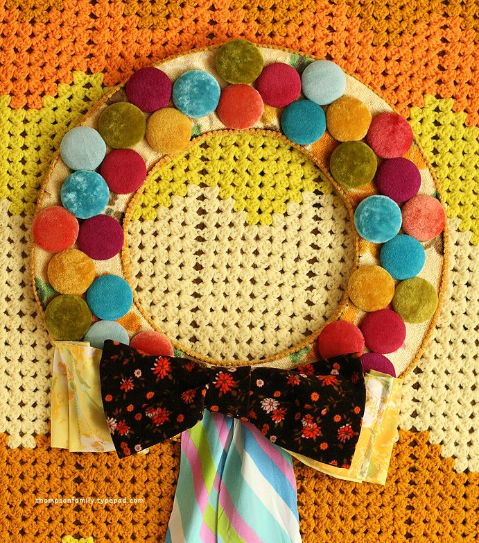 Retro wreath DIY
