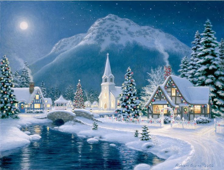 christmas tree canvas painting with lights - Google Search