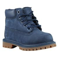 "Timberland 6"" Premium Waterproof Boots - Boys' Toddler - Navy / Brown"