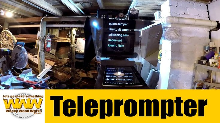 Teleprompter/AutoCue - Off the Cuff - Wacky Wood Works.