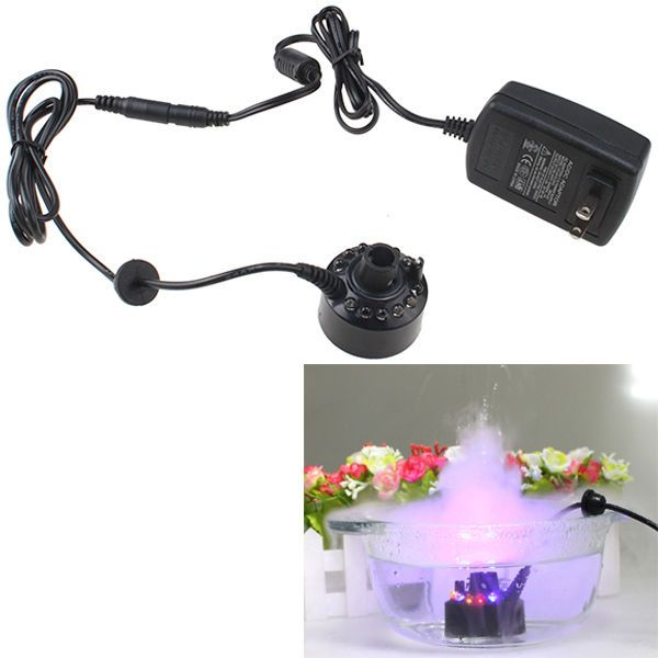 Ultrasonic Mist Maker Fogger Water Fountain Mini Air Humidifier Atomizer 12 LED #Agptek