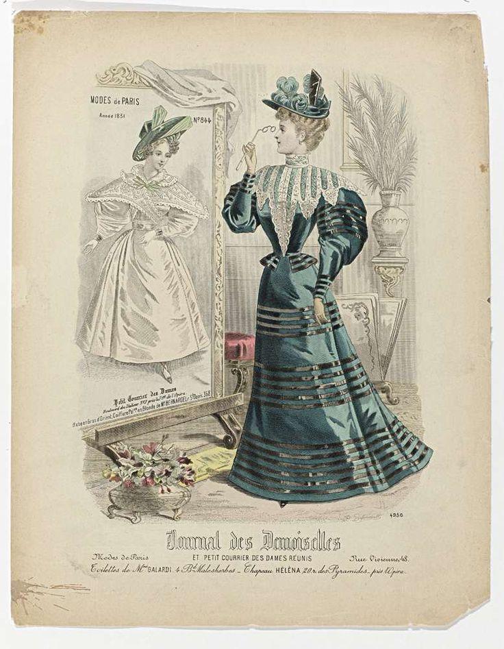 Journal des Demoiselles 1896, nr. 4956 : Toilettes de Mme Galardi..., P. Deferneville, 1896