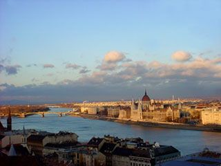 A nice panoramic view with the Parliament in Pest.