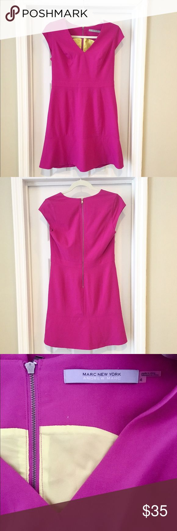 Marc New York by Andrew Marc Pink Size 4 Dress A sassy, flirty and vibrant pink mini dress that can be dressed up for the office, out for drinks, or dressed up for date night. Comfortable and flattering fit. Andrew Marc Dresses Mini