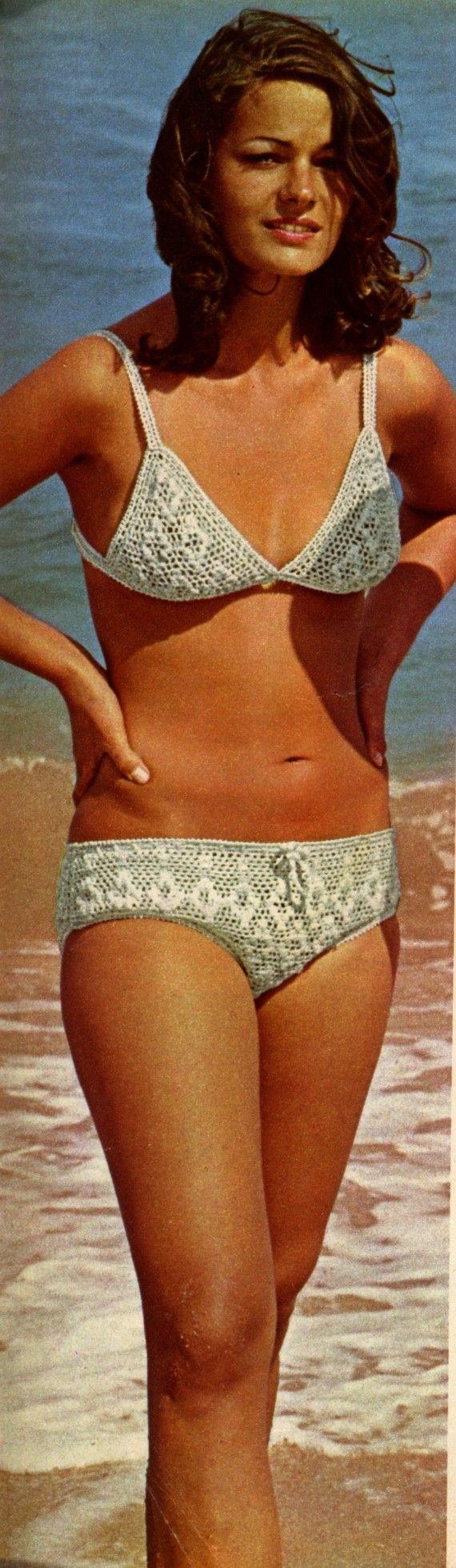 Vintage Crochet Pattern PDF 099 French White Bikini from WonkyZebra $2.00