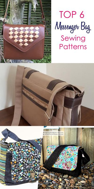 7 Best Messenger Bag Patterns that are Easy to Sew  ad8f2635773bc