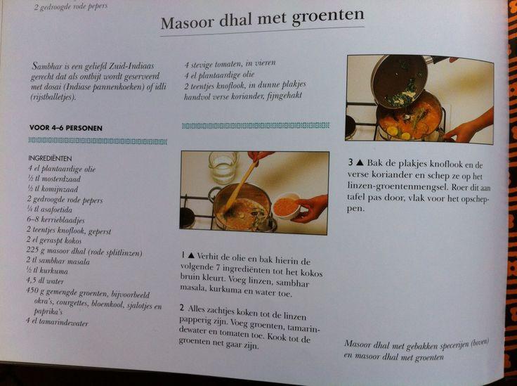 Bijgerecht - recept masoor dhal met groenten