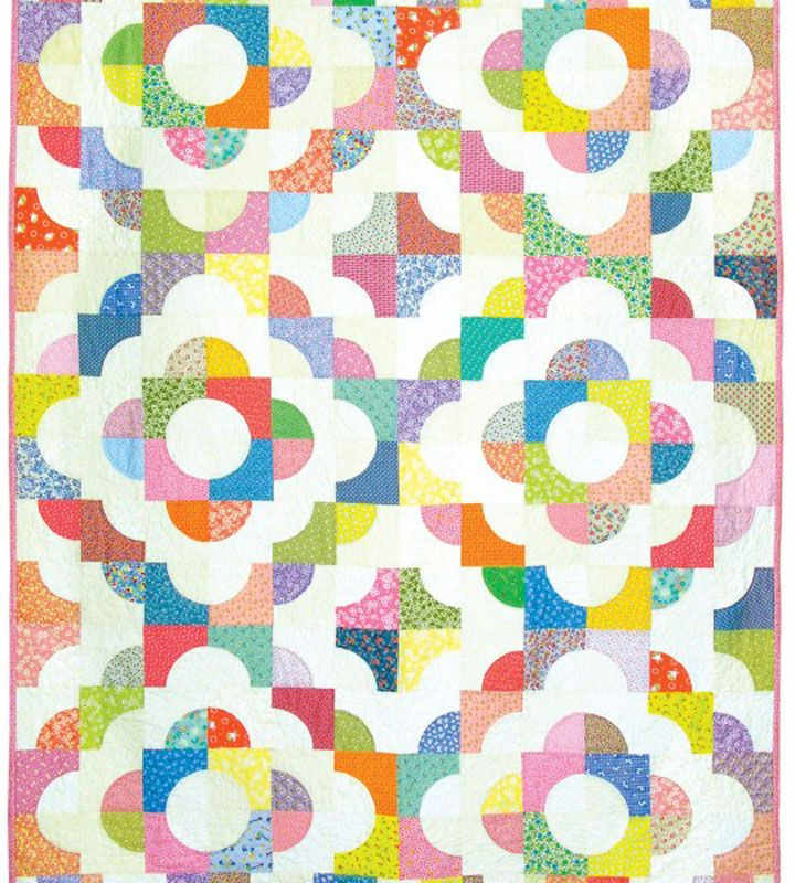 """Looking for a great """"Next Quilt"""" to make? This Drunkard's Path Quilt is AMAZING! Click on the link to get the FREE pattern. @AccuQuilt GO! Drunkard's Path die cuts pieces FAST!"""