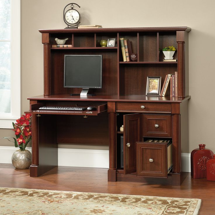 Sauder Palladia Computer Desk With Hutch