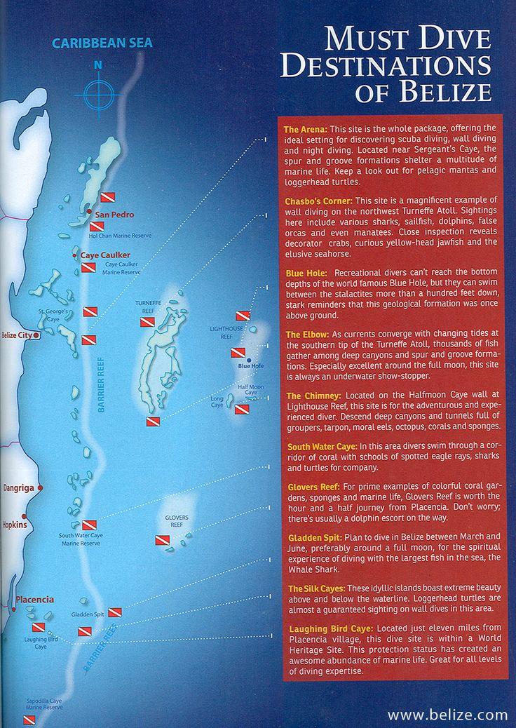 #Belize Dive Sites Destinations #TheresaMf #BzeConnection