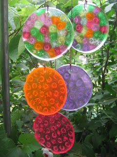 art and soul preschool: Melted Bead Chimes and Pendants