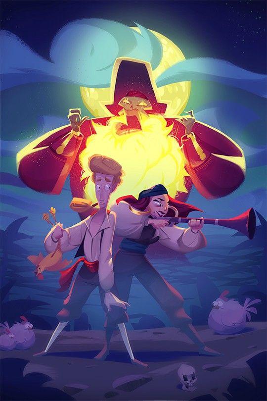"powersimon: "" Some Monkey Island fan art for today's SketchDaily! """
