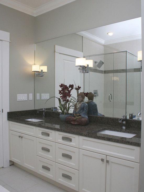white bathroom cabinets with dark countertops. like the white vanity with dark countertop (not this particular counter per se) contemporary bathroom cabinets countertops i