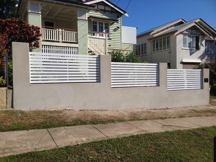 Brick Rendered Piered Front Fence Google Search Fences