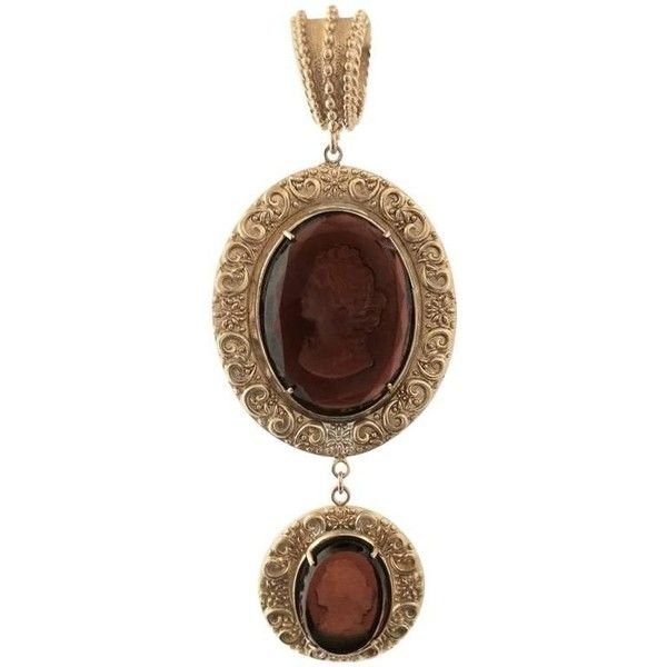 Preowned Bronze Pendant With Brown Engraved Murano Glass Inserts (£225) ❤ liked on Polyvore featuring jewelry, pendants, brown, pendant necklaces, pendant necklace, pre owned jewelry, murano glass pendant necklace, murano glass necklace pendants and brown pendant