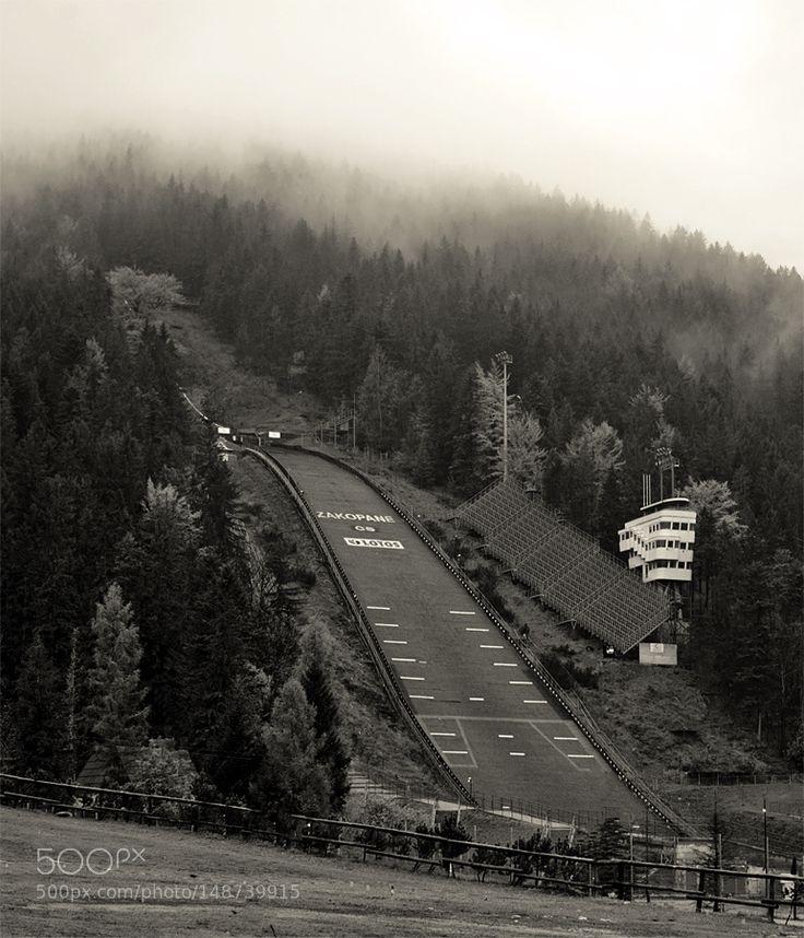Fog over Wielka Krokiew by Pictografio