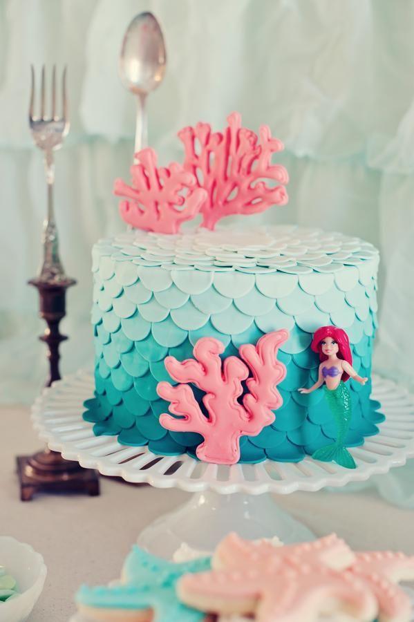 Little Mermaid birthday cake got to do one year for reagan bday