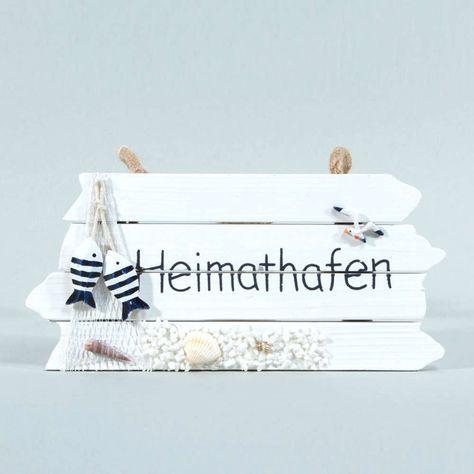 Heimathafen HOLZSCHILD Dekoration >>