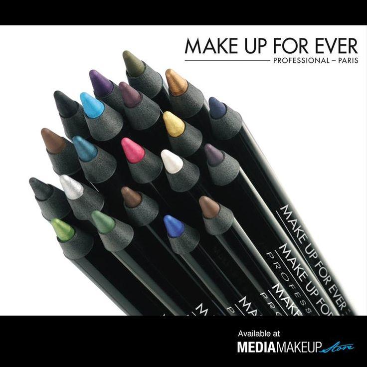 Aqua eyes is a waterproof liner pencil. Highly pigmented, its unique formula doesn't run or fade. www.mediamakeupstore.com #MediaMakeupAU #MAKEUPFOREVER