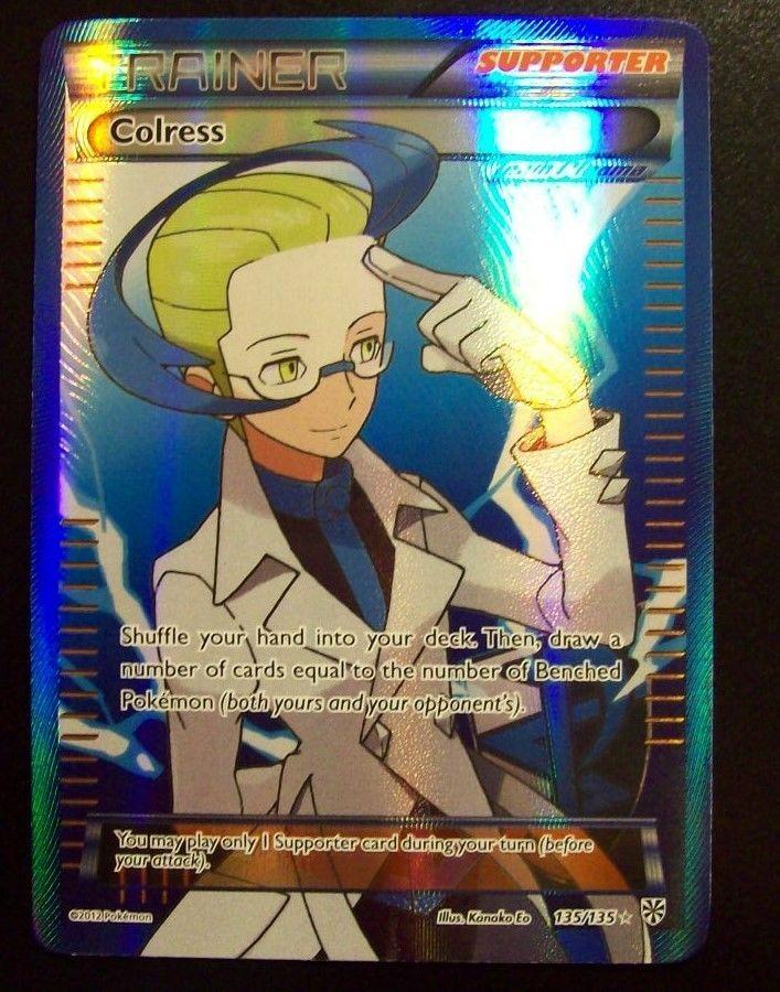 COLRESS 135/135 BW Plasma Storm FA Full Art Trainer Ultra Rare NM Pokemon Card
