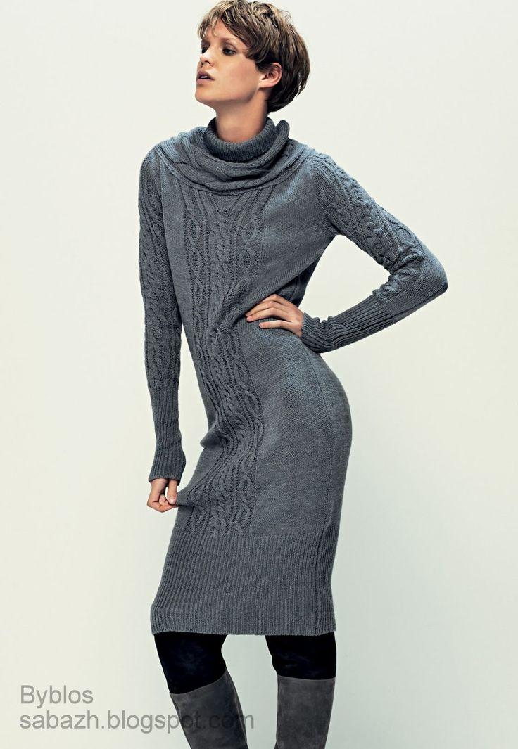 СТИЛЬНОЕ ВЯЗАНИЕ: Вязаные платья 2012-2013