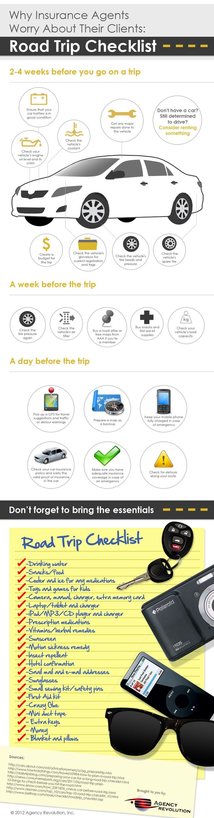 Infographic: Road Trip Checklist                                                                                                                                                                                 More