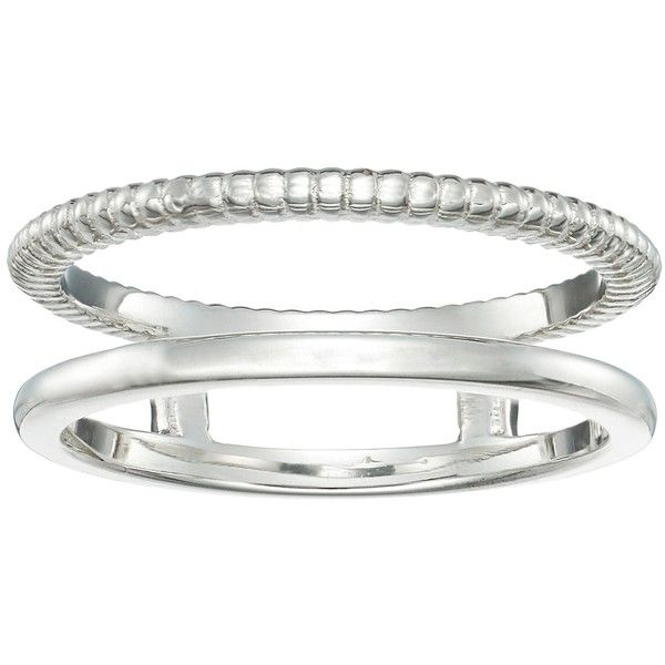Shinola Detroit Coin Edge Ring (Silver) Ring (2.560.250 IDR) ❤ liked on Polyvore featuring jewelry, rings, silver jewellery, band rings, band jewelry, silver jewelry and silver rings