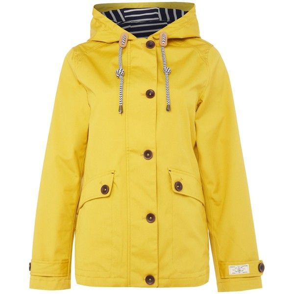 Joules Coast waterproof hooded jacket (€98) ❤ liked on Polyvore featuring outerwear, jackets, women, yellow, waterproof hooded jacket, water proof jacket, hooded jacket, lined waterproof jacket and joules jacket