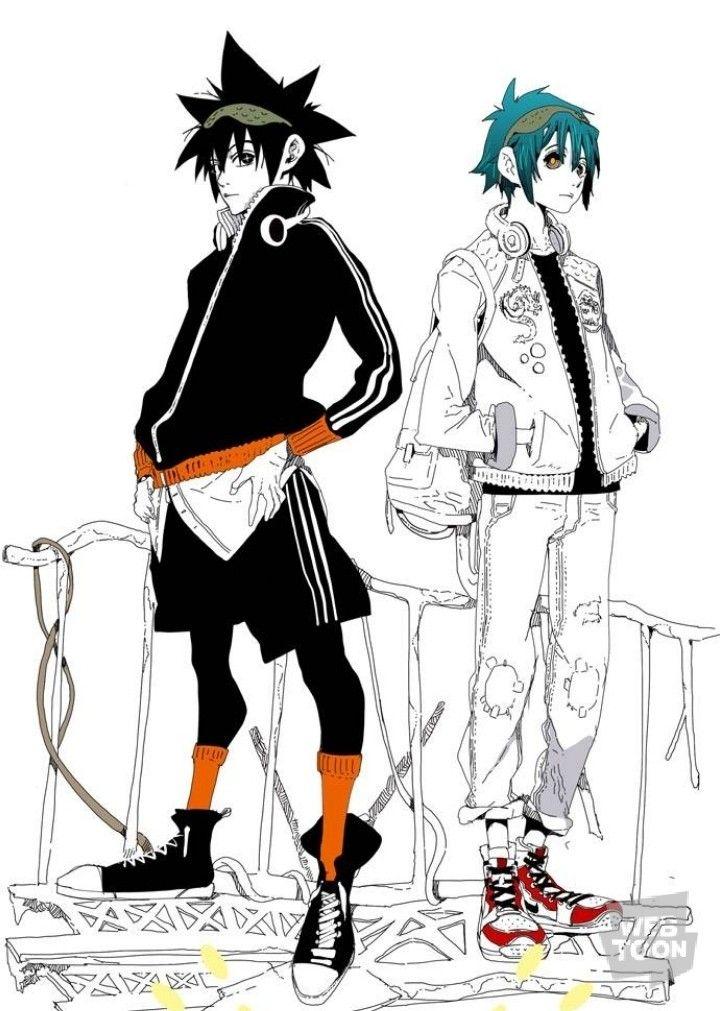God of Highschool Mori Jin and Mori Dan Anime boy
