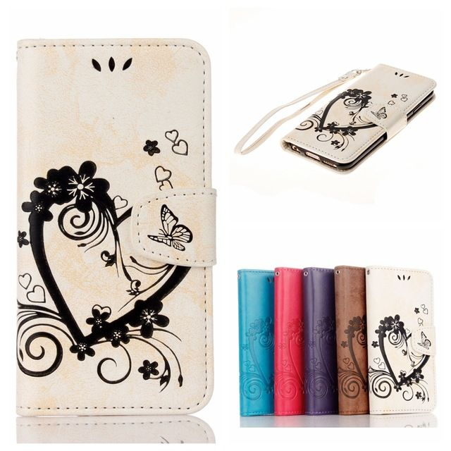 Flip Leather Case sFor Funda Apple iphone 6 plus case For iphone 6 plus Wallet Case Card Holder Phone Cover Coque