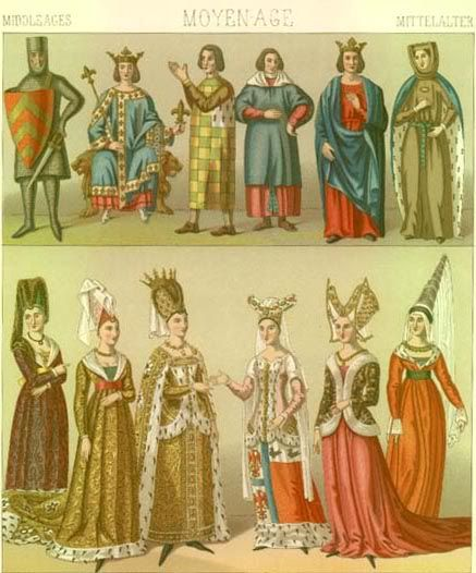 Late Middle Ages Fashion for men and women. This site offers a lot of information about their costumes and headsets they wore.