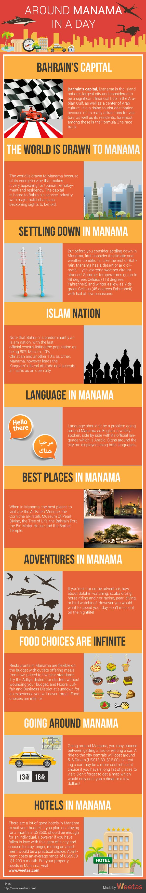 weetas #blog Around Manama in A Day If you are intending to visit Manama, you may need some guidelines to spend unforgettable day. Here are some information that can help you to know more about Manama. Manama,  https://blog.weetas.com/around-manama-day-infographic/