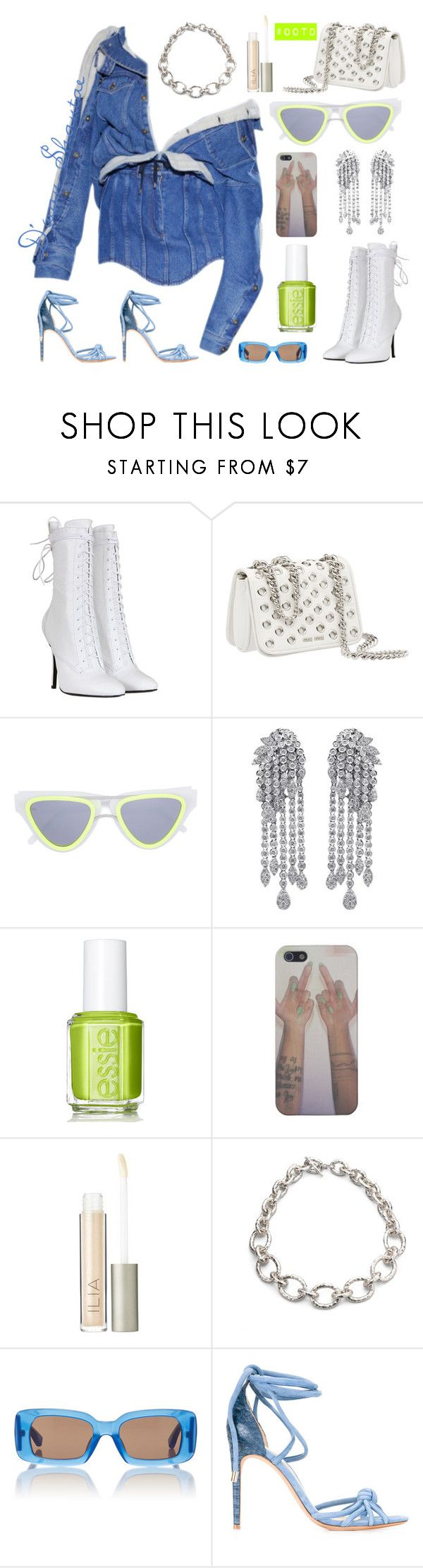 """#OOTD- Y Project Jacket, Balmain Boots, Miu Miu Bag"" by adswil ❤ liked on Polyvore featuring Balmain, Miu Miu, Smoke x Mirrors, Essie, Ilia, Ippolita, Dries Van Noten and Alexandre Birman"