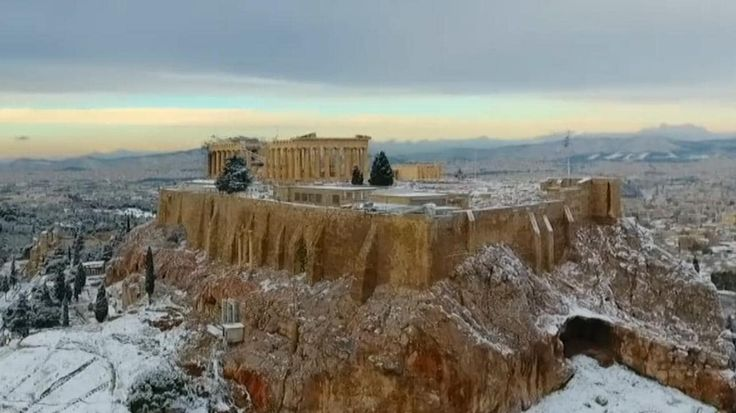 askelena.com Your #Vacation #Planner and #Travel To #Greece #Athens #Acropolis in #Snow! Boutique #Hotels #Bookings #specialoffers request@askelena.com