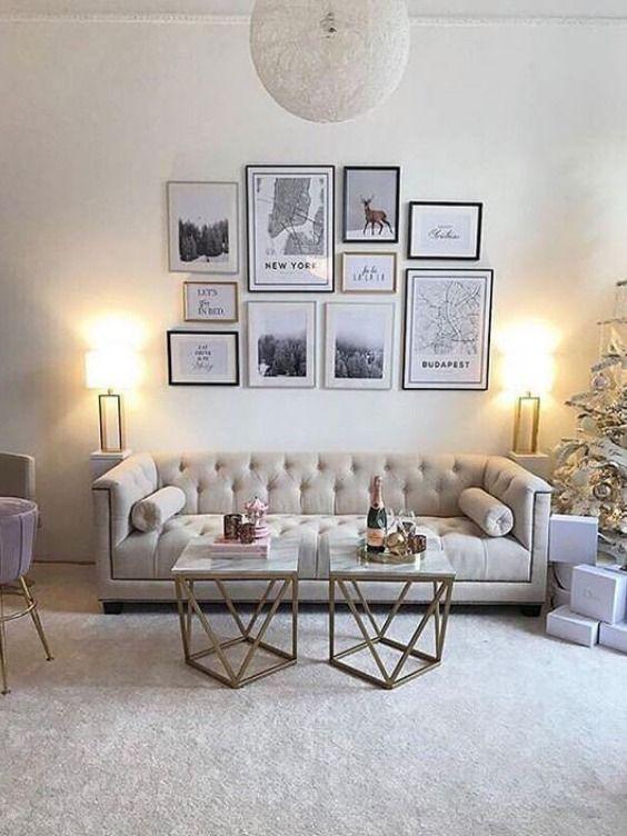 Beistelltisch Weiss Gold Marmor Optik Vista In 2019 Wohnzimmer