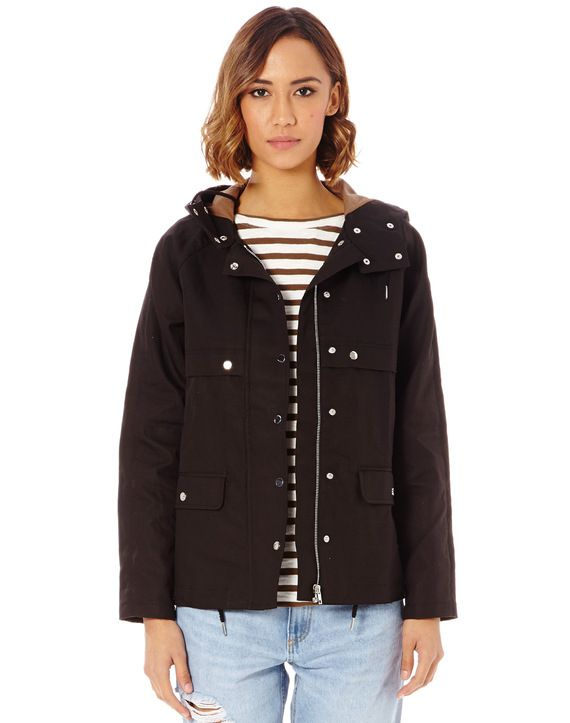 Cotton Hooded Rain Jacket