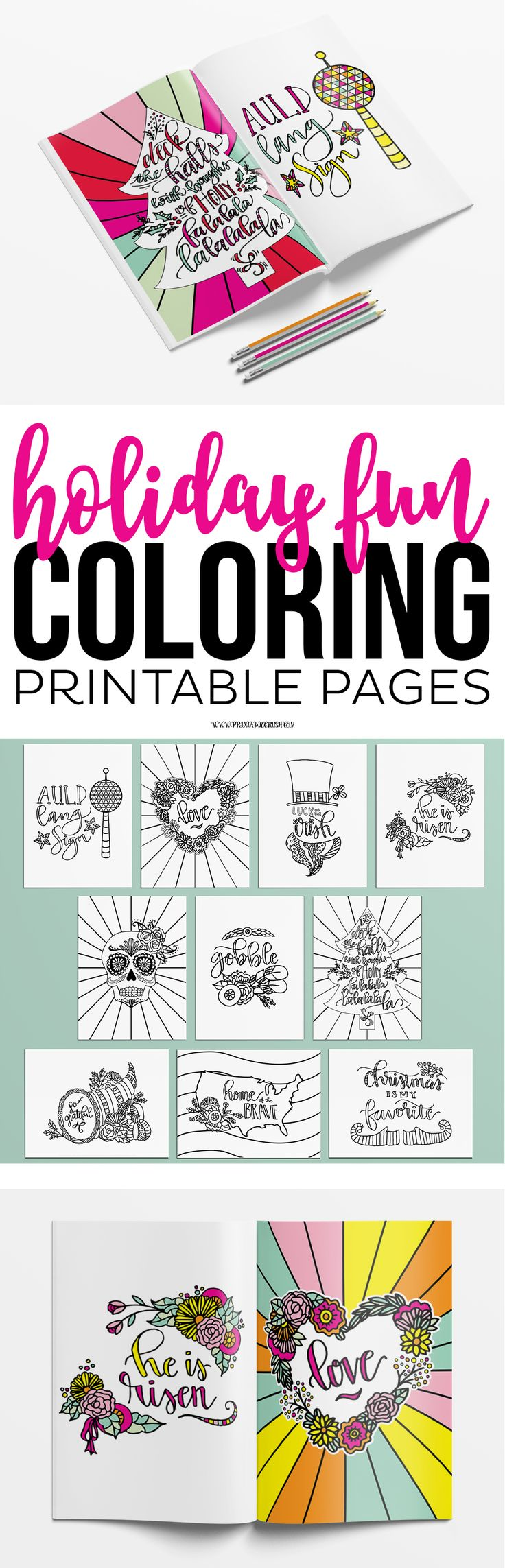Princess holiday coloring pages - Enjoy Coloring These Holiday Coloring Pages For Adults Or Kids Includes 10 Pages For The