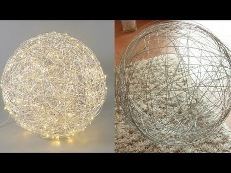 diy kugeln f r lichterketten aus wolle oder h kelgarn cotton balls youtube ideen anne. Black Bedroom Furniture Sets. Home Design Ideas