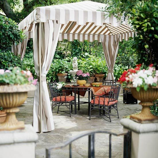 Patio with canopy