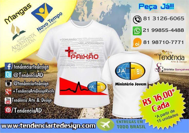 Camisa para Congresso Jovem!!