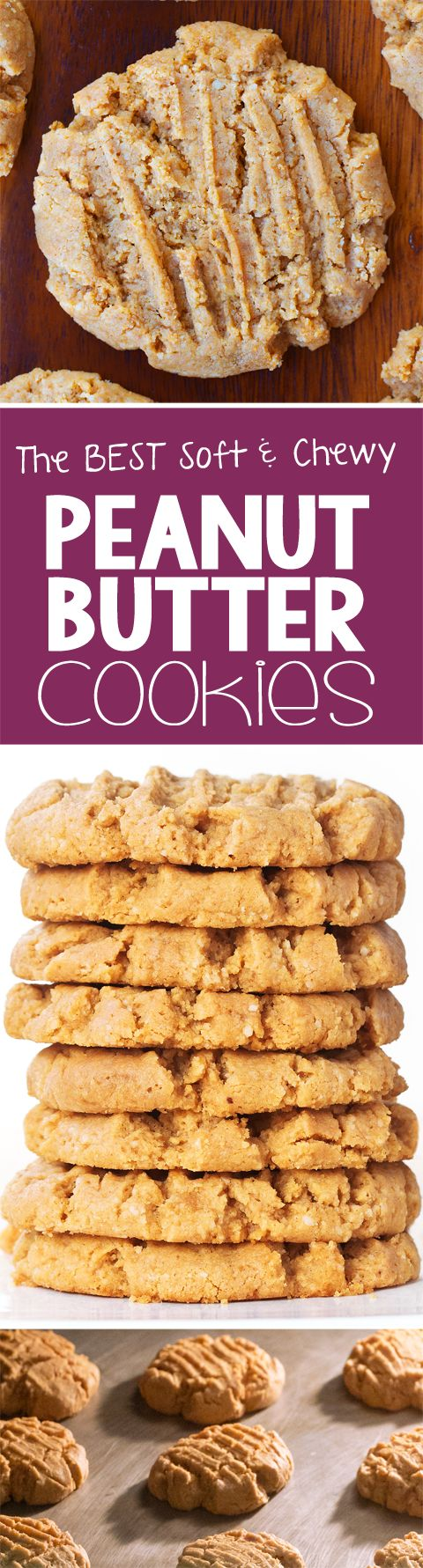 This is the ONLY peanut butter cookie recipe I will ever make!