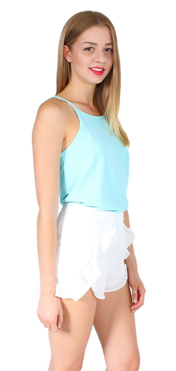 pippy shorts  AU$39.00 : dragonberry! White floaty shorts with an adorable frilly overlay
