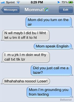 25 Hilarious Text Messages From Parents