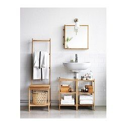 IKEA - RÅGRUND, Wastafel-/hoekrek, , Als je er twee combineert, kan je ze gebruiken als open opberger onder de wastafel.Bamboe is een slijtvast natuurmateriaal.